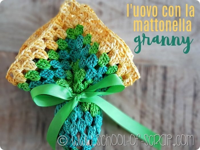 Tutorial: Uovo di Pasqua con la granny square all'uncinetto