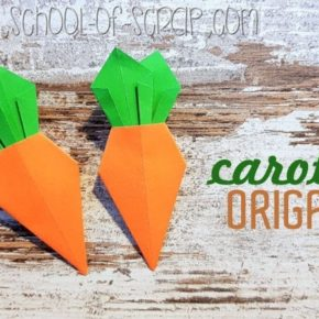 Segnaposto per la tavola di Pasqua: carotine origami