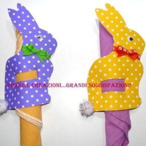 Videotutorial portatovagliolo coniglietto di Pasqua faidate