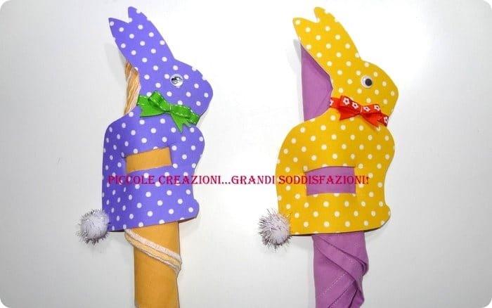 videotutorial portatovaglioli coniglietto di Pasqua fai da te