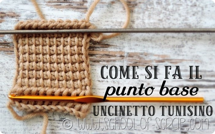 Uncinetto tunisino: video guida completa al punto base