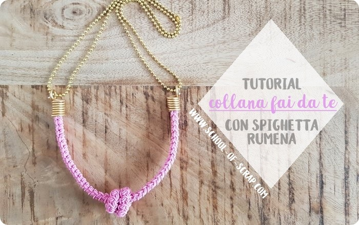 tutorial collana fai da te con la spighetta rumena all'uncinetto