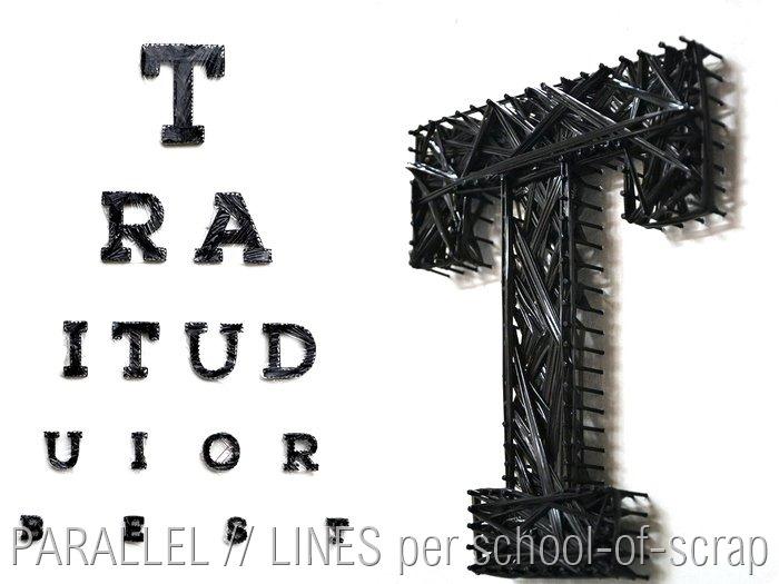 PARALLEL // LINES per school-of-scrap.com