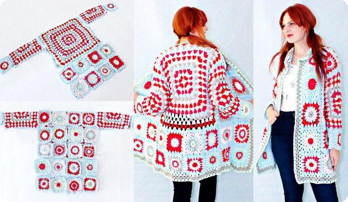 Come costruire un cappotto a crochet con le granny square