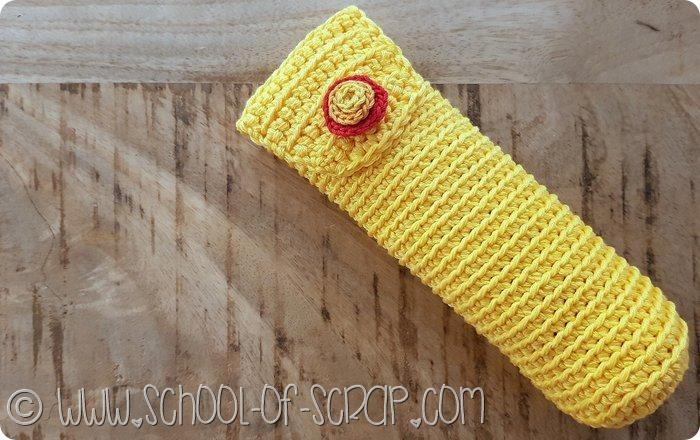 Come fare un astuccio portapenne, occhiali o uncinetti a crochet (3)