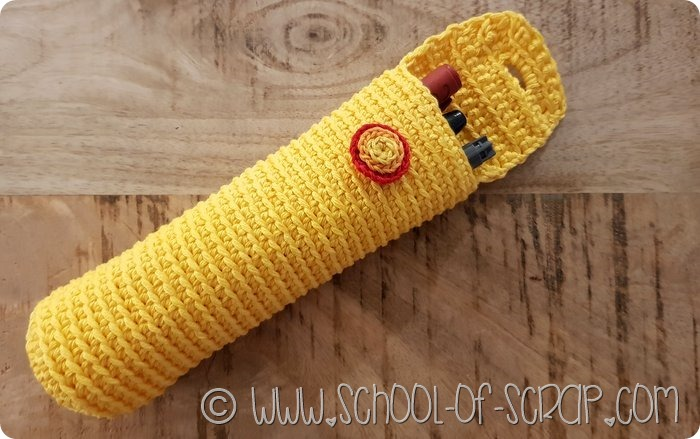 Come fare un astuccio portapenne, occhiali o uncinetti a crochet (4)