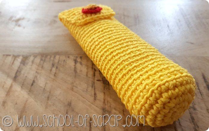 Come fare un astuccio portapenne, occhiali o uncinetti a crochet