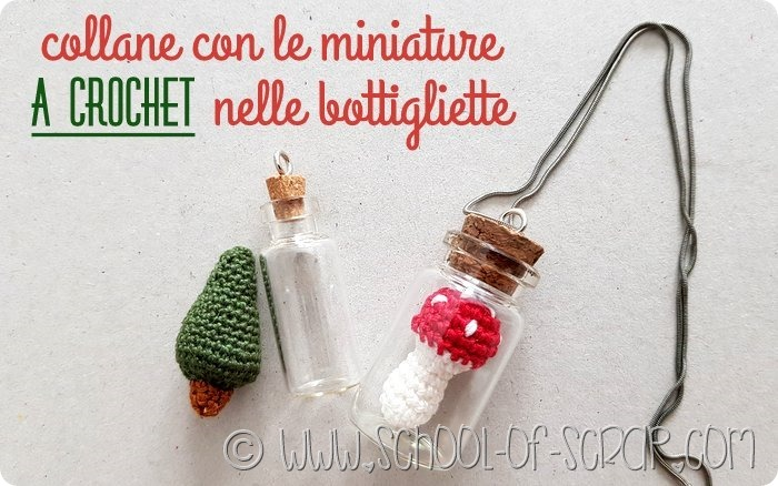 collane con le miniature fatte all'uncinetto