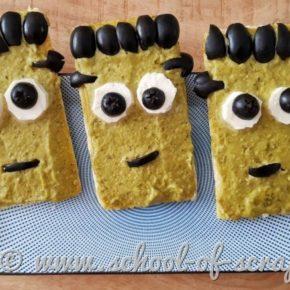 Tartine salate per Halloween: Frankenstein senza glutine