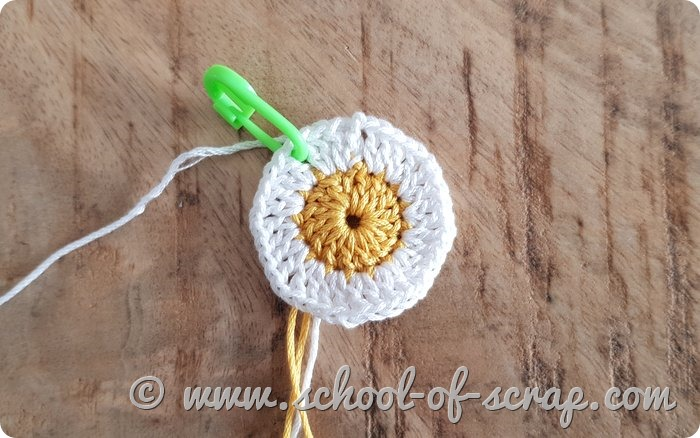 granny square facile con la margherita
