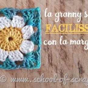 Tutorial Granny Square facile facile con la margherita