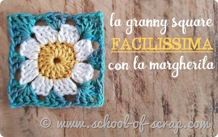 tutorial granny square facile con la margherita