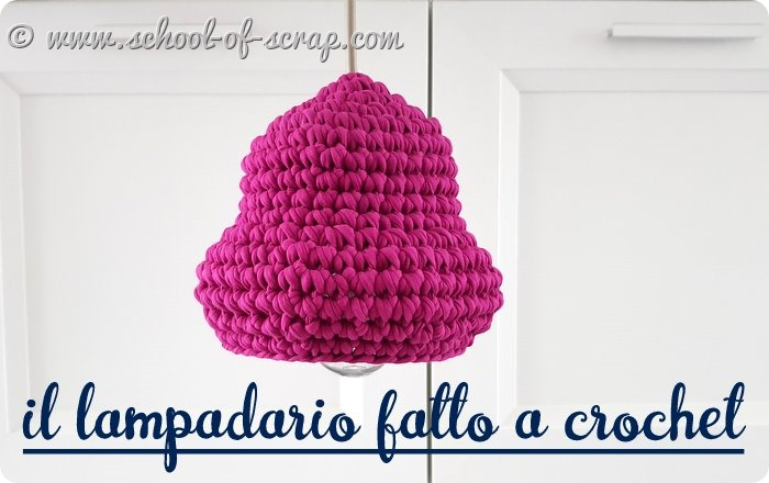 Tutorial come fare un lampadario di fettuccia all'uncinetto
