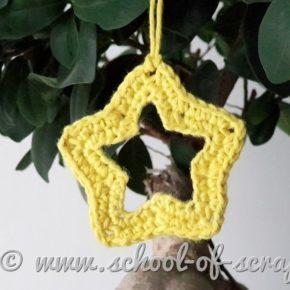 Decorazioni Natale a crochet: videotutorial stella forata