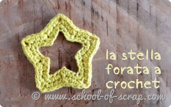 video tutorial stella forata a crochet perfetta per Natale_