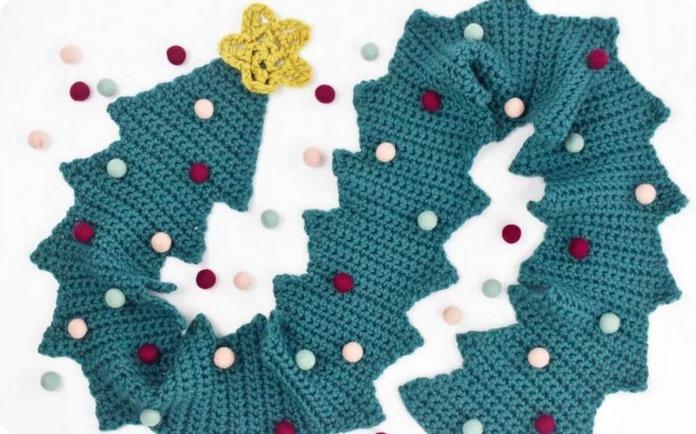 Come fare la sciarpa albero di Natale all'uncinetto