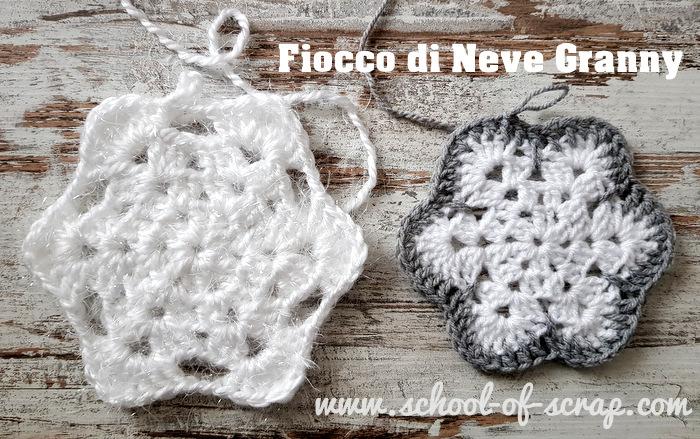 Fiocchi Di Neve Di Carta Facili : Uncinetto fiocco di neve granny style facile e bello alessia