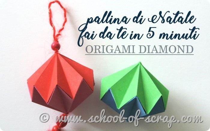 Video tutorial pallina di Natale fai da te facile a origami