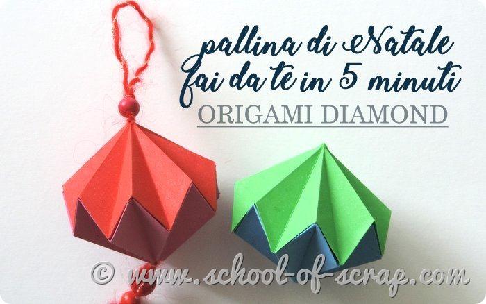 Video tutorial pallina di Natale fai da te facile a origami