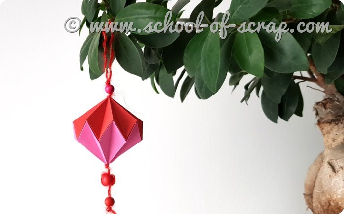 Video tutorial pallina di Natale fai da te facile a origami_