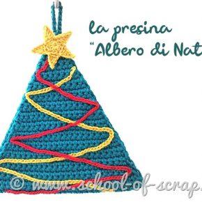 nuovo pattern per la presina albero di Natale all'uncinetto