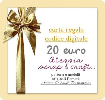 coupon sconto 20 euro - Pattern Alessia Gribaudi Tramontana