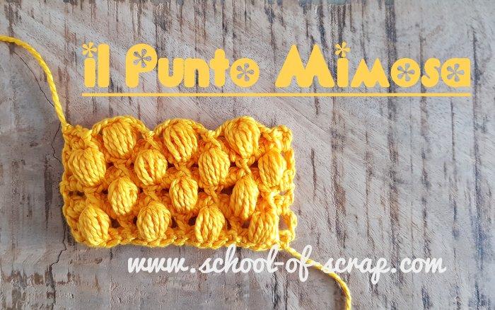 Scuola Di Uncinetto Punto Mimosa Schema E Video Tutorial Alessia