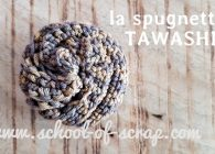 Tawashi spugnetta all'uncinetto schema e tutorial
