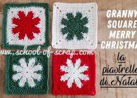 Uncinetto per Natale: piastrella granny Merry Christmas