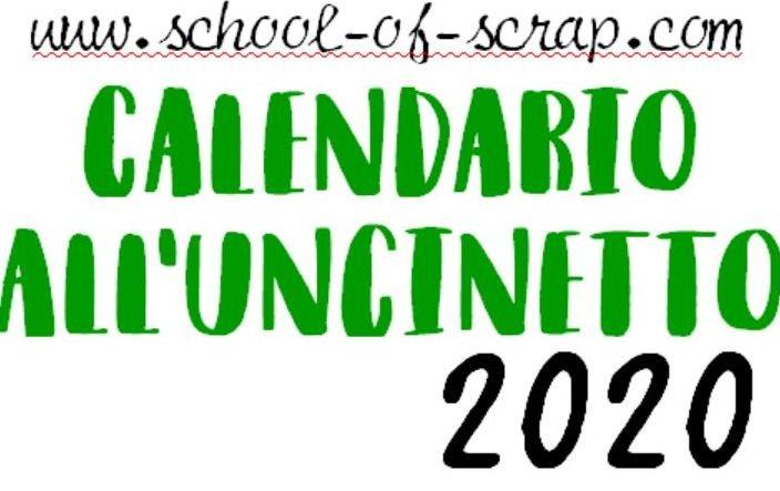 calendario all'uncinetto 2020