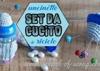 Idee da fare all'uncinetto + riciclo creativo: set da cucito fai da te