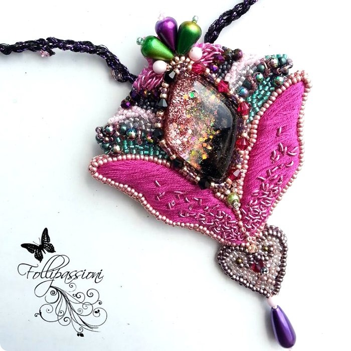 video Tutorial BEAD EMBROIDERY tecniche di base, Guest post FolliPassioni Design