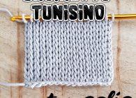 Uncinetto tunisino facile: punto maglia che imita la maglia rasata ai ferri