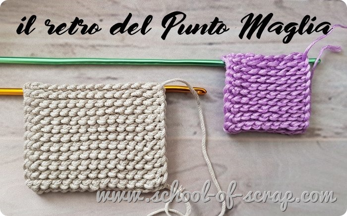 Uncinetto tunisino punto maglia che imita la maglia rasata ai ferri