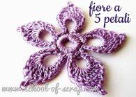 Uncinetto: tutorial del fiore di pizzo a cinque petali