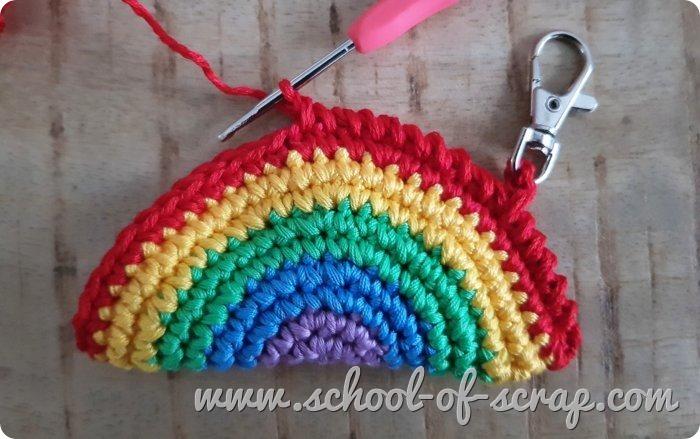 uncinetto Tutorial portachiavi arcobaleno amigurumi a crochet
