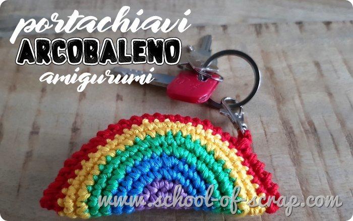 uncinetto facile Tutorial portachiavi arcobaleno amigurumi a crochet