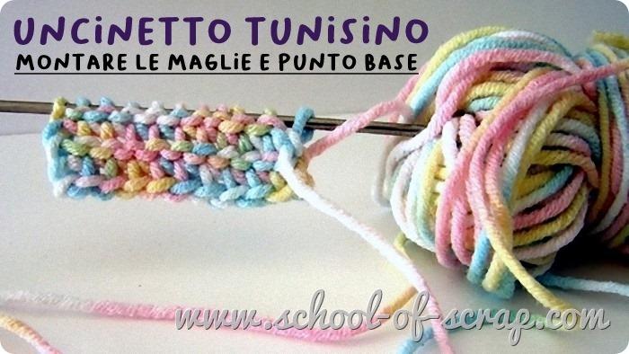 uncinetto tunisino facile - come montare le maglie e punto di base