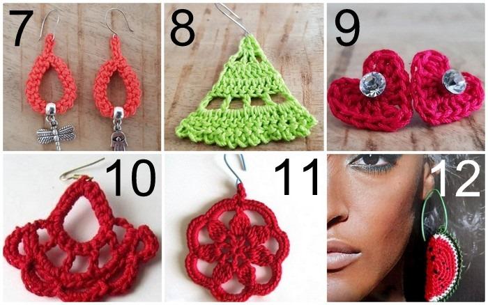 Uncinetto facile 12 tutorial di orecchini a crochet da copiare subito