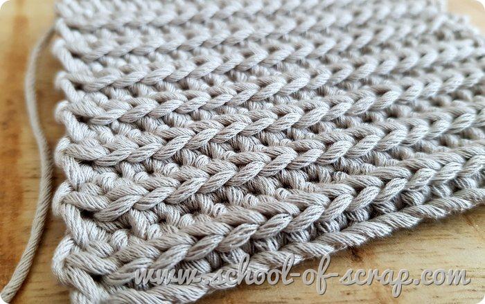 uncinetto facile punto mussolini o falsa costa inglese che imita la maglia ai ferri