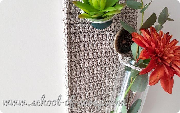 Uncinetto Facile videotutorial vaso portafiori da muro a crochet idea regalo