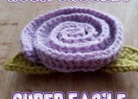 Uncinetto facile: Rosa facilissima a crochet tutorial passo passo