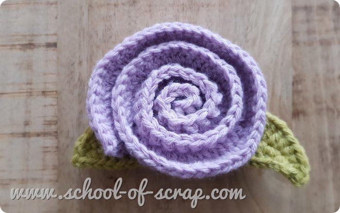 Uncinetto facile - Rosa facilissima a crochet tutorial passo passo