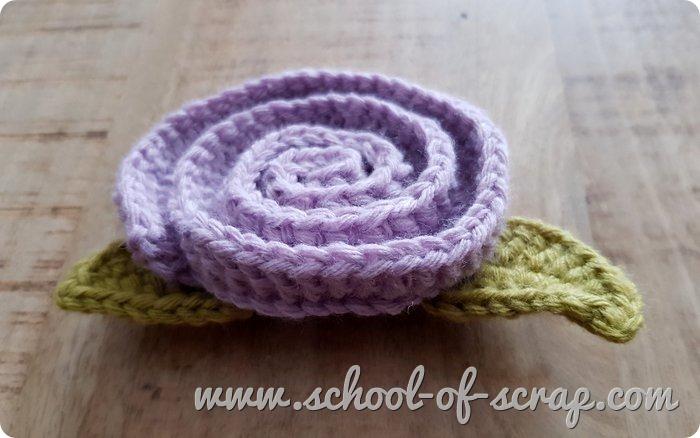 Uncinetto facile Rosa facilissima a crochet tutorial passo passo_
