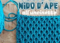 Punti belli all'uncinetto: video tutorial punto nido d'ape 3D tridimensionale