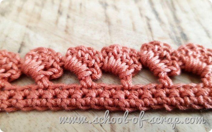 Uncinetto facile speciale bordi e bordure bordo a onde a crochet