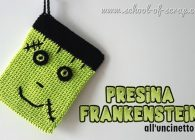 Tutorial presine all'uncinetto Frankenstein per Halloween