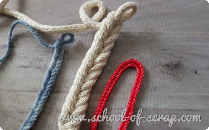 Uncinetto facile -cordoncino spighetta a spina di pesce a crochet