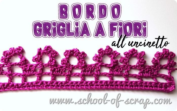 Uncinetto facile, speciale bordi e bordure bordo griglia a fiori a crochet