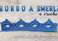 Uncinetto speciale bordi e bordure:  bordo a smerli a crochet